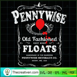 Pennywise Old Fashioned Root Beer Floats SVG, Pennywise SVG, Horror Movie SVG