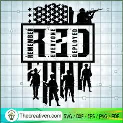 RED Army SVG, Remember SVG, Everyone SVG, Deployed SVG