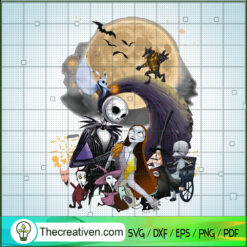 Nightmare Before Christmas SVG, Poster The Nightmare Before SVG, Halloween SVG