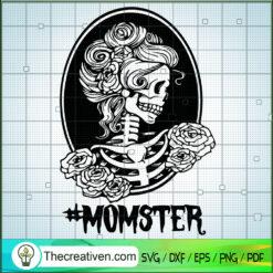Momster SVG, Floral Skull SVG, Mom Skull SVG