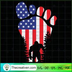 Bigfoot In Big Feet SVG, Bigfoot SVG, USA Flag SVG