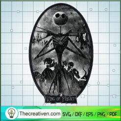 King Of Fright SVG, Jack Skellington SVG, Halloween SVG
