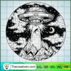 UFO At Night SVG, UFO SVG, Galaxy SVG