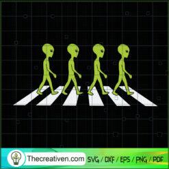 Alien Walking SVG, Alien SVG, Walk In The Street SVG