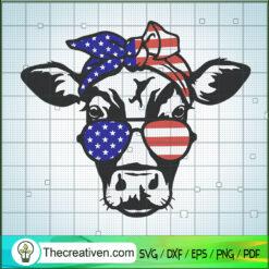 Heifer 4th of July SVG, Heifer SVG, USA Flag SVG