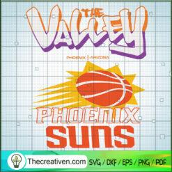 The Valley Phoenix Suns SVG, Phoenix Team SVG, Basketball Team SVG