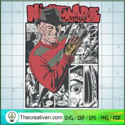 Nightmare On Elm Street SVG, Freddy Krueger SVG, Horror Movie SVG