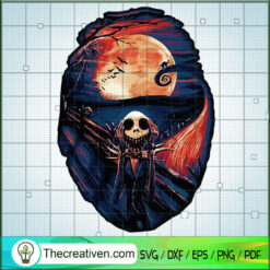 Jack Skellington Scream SVG, Jack Skellington In Halloweentown SVG, Halloween SVG