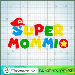 Super Mommio SVG, Super Mario SVG, Mario SVG