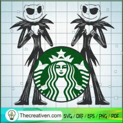 Jack Skellington Starbucks Cold Cup SVG, Jack Skellington SVG, Halloween SVG