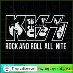Kiss Rock And Roll All Nite SVG, Witch Face SVG, Halloween SVG