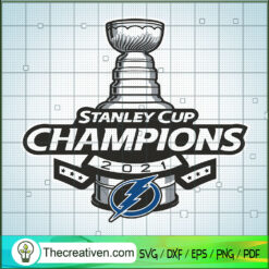 Stanley Cup Champions 2021 SVG, Champions Cup SVG, National Hockey League SVG