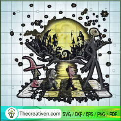The Nightmare Before Christmas Characters Walking SVG, Scary Movie SVG, Halloween SVG