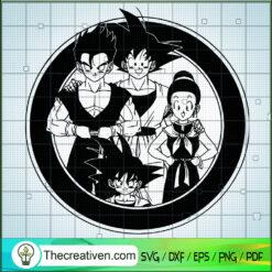 Goku Family SVG, Dragon Ball Z SVG, Cartoon SVG