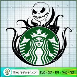 Starbucks Cold Cup SVG, Jack Skellington SVG, Halloween SVG