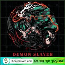 Tanjiro And Nezuko SVG, Demon Slayer SVG, Kimetsu no Yaiba SVG