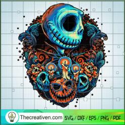 Jack Skellington Pumpkin Skull SVG, The Nightmare Before SVG, Halloween SVG