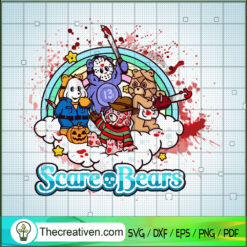 Scare Bears SVG, Horror Bears SVG, Horror Characters SVG
