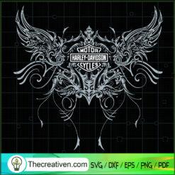 Harley-Davidson Wings SVG, Harley-Davidson Logo SVG, Motorcyles SVG