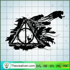 Harry Potter Ghost Logo SVG, Harry Potter SVG, Hogwarts SVG