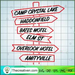 Horror Address SVG, Camp Crystal Lake SVG, Eml St SVG