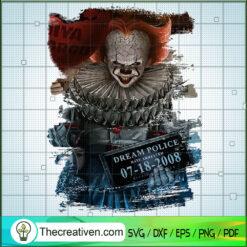 Pennywise Mugshot SVG, Pennywise SVG, Halloween SVG