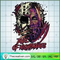 Duel Of Nightmares SVG, Horror Characters SVG, Halloween SVG