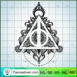 Harry Potter Floral Logo SVG, Harry Potter SVG, Flower Logo SVG