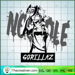 Noodle Gorillaz SVG, Gorillaz Band SVG, Gorillaz SVG
