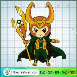 Loki Chibi SVG, Loki God SVG, Avengers SVG