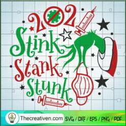 2021 Stink Stank Stunk Mask Grinch SVG, Grinch SVG, Mery Christmas SVG