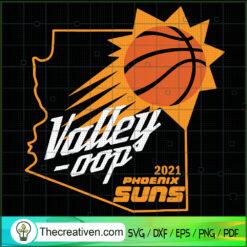 Valley-oop Basketball SVG, Phoenix Suns SVG, NBA SVG