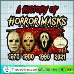 A History of Horror Masks SVG, Mask Horror Character SVG, Halloween SVG