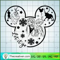 Let It Go Mickey SVG, Disney Frozen SVG, Mickey Disney SVG