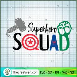 Superhero Squad SVG, Avengers Marvel SVG, Thor Hulk Spider-Man SVG