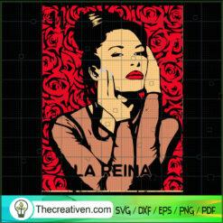 La Reina Selena SVG, Lottery Number 11 SVG, Rose Flower SVG