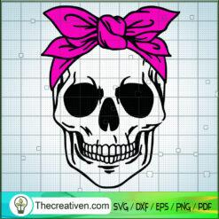 Skull Bandana SVG, Skull SVG, Halloween SVG