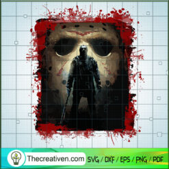 Jason Voorhees Killer SVG, Horror Characters SVG, Halloween Horror SVG