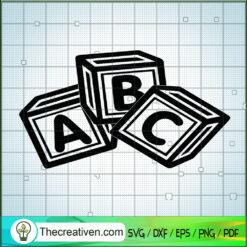 ABC Block SVG, Alphabet SVG, Game SVG