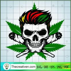 Skull Cannabis SVG, Cannabis SVG, Leaf SVG