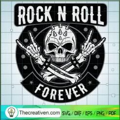 Skull Hands Rock N Roll SVG, Rock and Roll SVG, Skeleton Rock Hand SVG