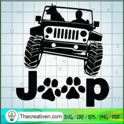 Jeep And Dog SVG, Jeep Car SVG, Dog SVG, Pet Lover SVG
