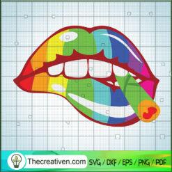 Sexy Lips Weed SVG, Cannabis Marijuana SVG, LGBT SVG, Cannabis SVG