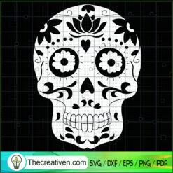 Skull Lotus SVG, Skull SVG, Flower Lotus SVG