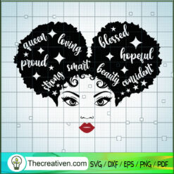 Afro Puff Queen Star SVG, Afro Puff Girl SVG, Black People SVG