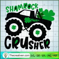 Shamrock Crusher SVG, Truck SVG, St.Patrick's Day SVG