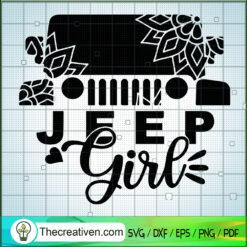 Jeep Girl Mandala SVG, Jeep Car SVG, Jeep SVG