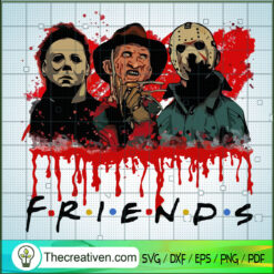 Jason, Freddy And Michael SVG, Horror Characters SVG, Halloween SVG