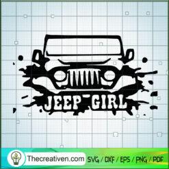 Jeep Car Girl SVG, Jeep SVG, Car Driving SVG