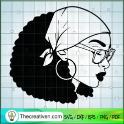 Black Queen SVG, Beautiful Hair SVG, Afro Woman SVG